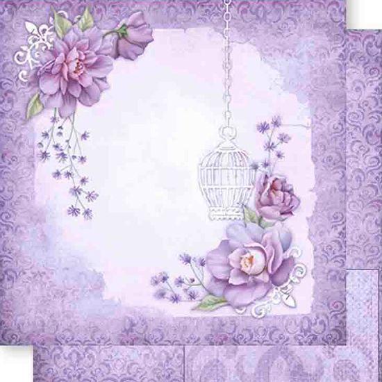 Papel-Scrapbook-Dupla-Face-Flores-e-Gaiolas-SD-466---Litoarte