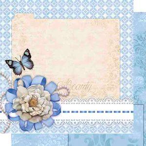 Papel-Scrapbook-Dupla-Face-Flor-e-Borboleta-SD-468---Litoarte