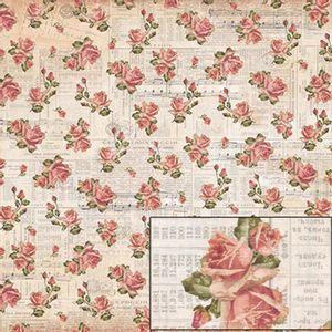 Papel-Scrapbook-Dupla-Face-Rosas-Vintage-SD-483---Litoarte