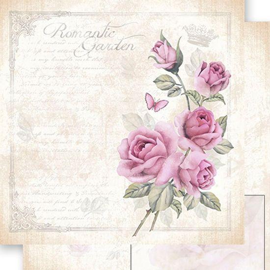 Papel-Scrapbook-Dupla-Face-Romantic-Garden-SD-486---Litoarte