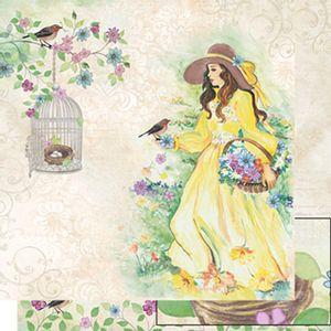 Papel-Scrapbook-Dupla-Face-Mulher-e-Passaro-SD-513---Litoarte