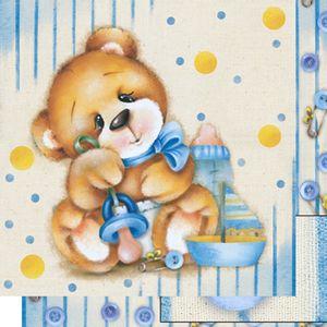 Papel-Scrapbook-Dupla-Face-Urso-Bebe-Menino-SD-516---Litoarte