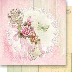 Papel-Scrapbook-Dupla-Face-Chave-e-Rosas-SD-536---Litoarte