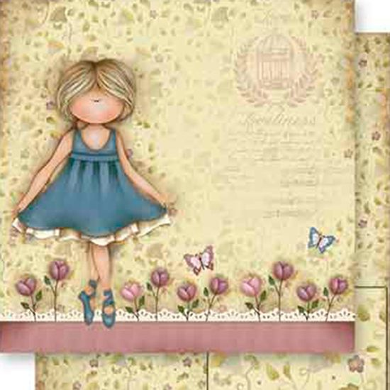Papel-Scrapbook-Dupla-Face-Menina-Bailarina-SD-554---Litoarte