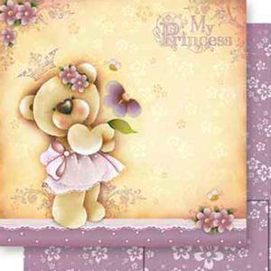 Papel-Scrapbook-Dupla-Face-Ursinha-My-Princess-SD-558---Litoarte