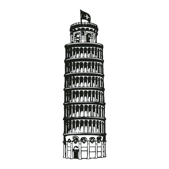 Carimbo-em-Borracha-Torre-Pisa-CLP-014---Litoarte