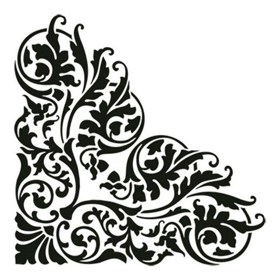 Carimbo-em-Borracha-Cantoneira-Arabescos-CLP-023---Litoarte