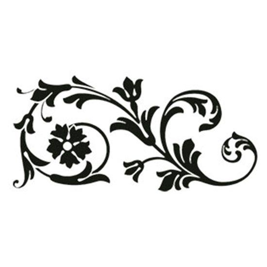 Carimbo-em-Borracha-Arabesco-com-Flores-CLP-030---Litoarte