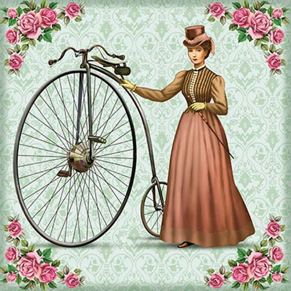 Papel-Transfer-30x30-Madame-e-Bicicleta-PT30-015---Litoarte