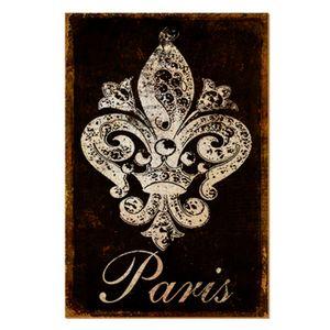 Placa-Decorativo-em-MDF-22x33-Paris-e-Flor-de-Lis-DHPM5-129---Litoarte