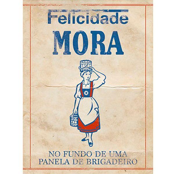 Placa-em-MDF-e-Papel-Decor-Home-Felicidade-Mora-DHPM-111---Litoarte