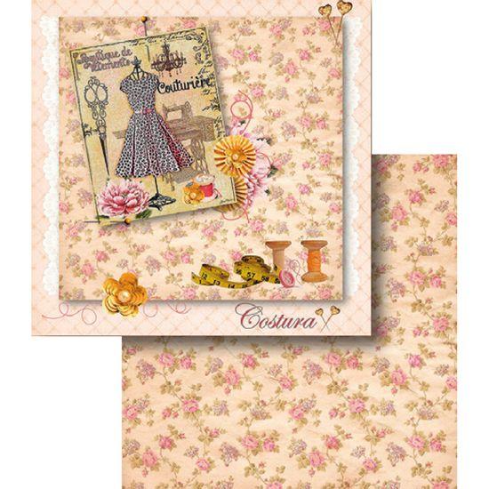 Papel-Scrapbook-Dupla-Face-Costura-e-Flores-LSCD-363---Litocart