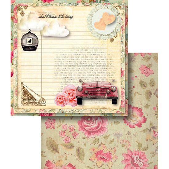 Papel-Scrapbook-Dupla-Face-Carro-e-Texto-LSCD-370---Litocart