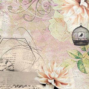 Papel-Scrap-Decor-Folha-Simples-15x15-Gaiola-e-Flores-LSCXV-002---Litoarte