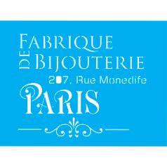 Stencil-para-Pintura-20x15-Paris-Bijouterie-LSM-010---Litocart