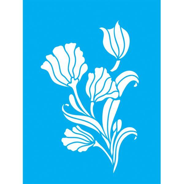 Stencil-para-Pintura-20x15-Flores-LSM-024---Litocart