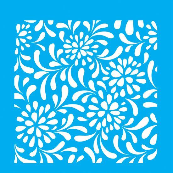 Stencil-para-Pintura-20x20-Estampa-Flores-LSQ-024---Litocart