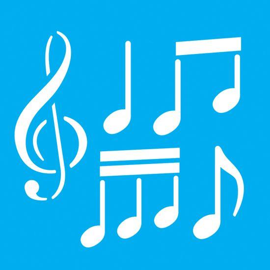 Stencil-para-Pintura-20x20-Notas-Musicais-LSQ-037---Litocart