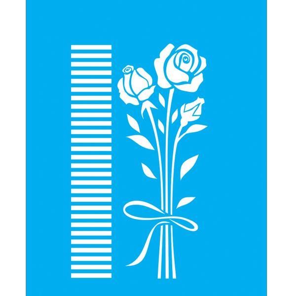 Stencil-para-Pintura-25x20-Buque-de-Rosas-LSG-040---Litocart