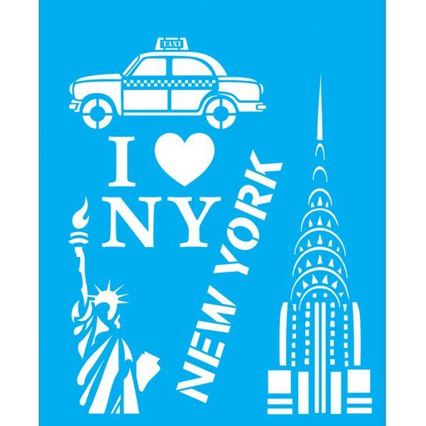 Stencil-para-Pintura-25x20-Eu-Amo-New-York-LSG-052---Litocart