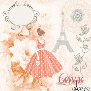 Papel-Scrap-Decor-165x165-Love-Paris-LSCP-003---Litocart