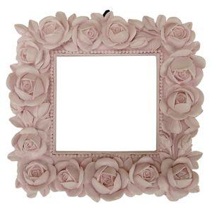 Moldura-Quadrada-Botoes-de-Rosas-12x12-Rosa---Resina