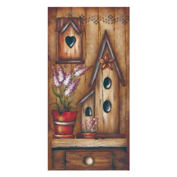 Placa-Decorativa-Madeira-Retangular-50x20-Casa-de-Passarinho-LPGC-003---Litocart