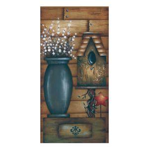 Placa-Decorativa-Madeira-Retangular-50x20-Casa-de-Passarinho-e-Vaso-LPGC-001---Litocart