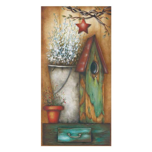 Placa-Decorativa-Madeira-Retangular-50x20-Casa-de-Passarinho-com-Balde-LPGC-002---Litocart