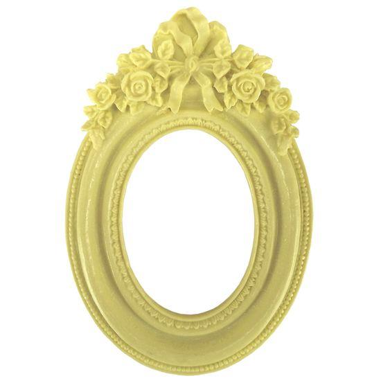Moldura-Provensal-Oval-Rosas-com-Laco-9x14-Amarelo---Resina