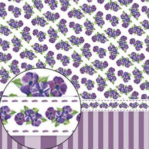 Papel-Scrapbook-Folha-Simples-Violetas-e-Listras-LSC-252---Litocart