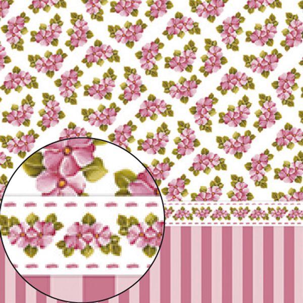 Papel-Scrapbook-Folha-Simples-Flores-e-Listras-LSC-251---Litocart