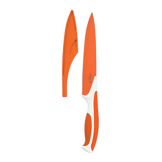 Faca-Cozinha-Antiaderente-203cm-Aco-Inox-8--Laranja-7711-8---Mundial