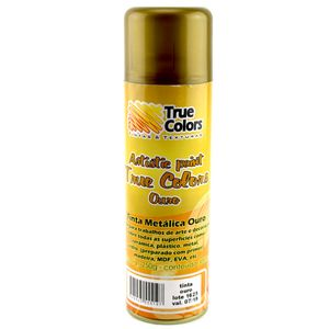 Tinta-Aerossol-Spray-Metalica-Ouro-300ml---True-Colors