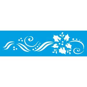 Stencil-Natal-Poinsetia-e-Arabesco-286x84-STN-035---Litoarte