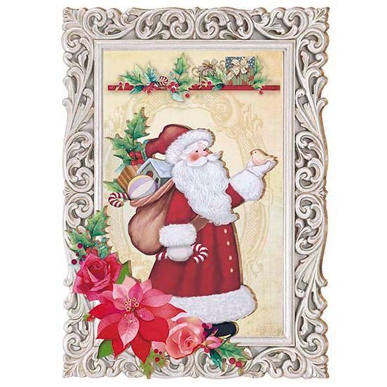 Placa-em-MDF-Natal-Papai-Noel-na-Moldura-DHN-007---Litoarte