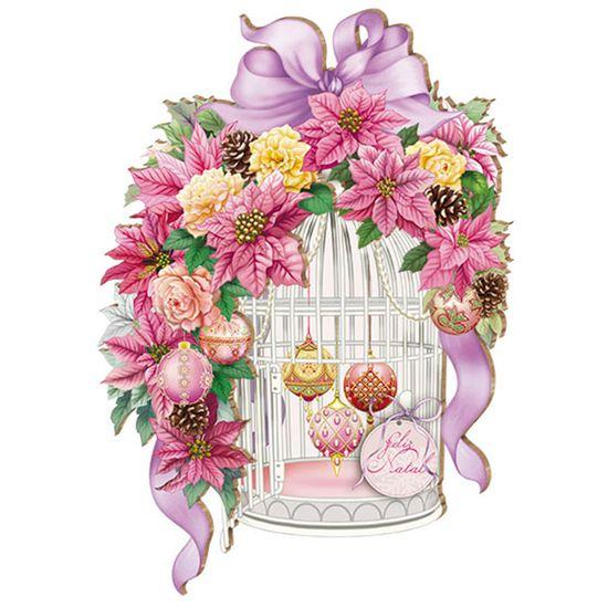 Placa-em-MDF-Natal-Gaiola-Flores-DHN-002---Litoarte