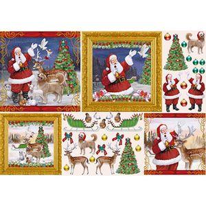 Papel-Decoupage-Natal-Papai-Noel-e-Bichinhos-PDN-121---Litoarte