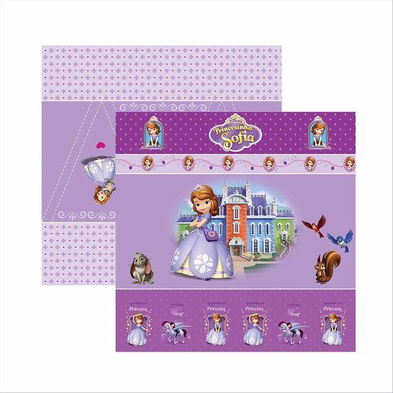 Papel-ScrapFesta-Disney-Princesinha-Sofia-Cenario-e-Bandeirolas-SDFD048---Toke-e-Crie