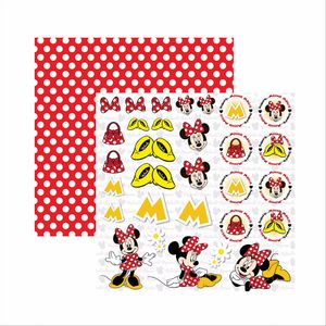 Papel-Scrapbook-Disney-Minnie-Mouse-Recortes-SDFD009---Toke-e-Crie