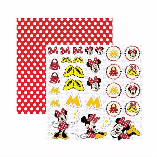 Papel-Scrapbook-Disney-Minnie-Mouse-Recortes-SDFD009---Toke-e-Crie