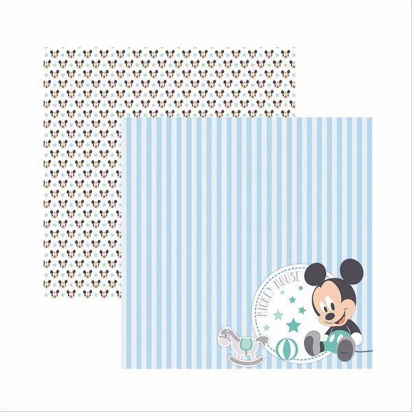 Papel-Scrapbook-Disney-Baby-Mickey-Paisagem-SDFD037---Toke-e-Crie