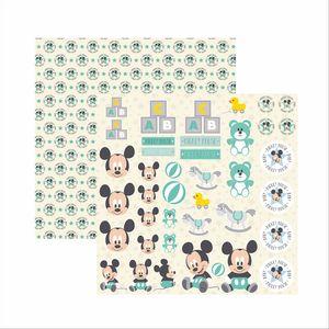 Papel-Scrapbook-Disney-Baby-Mickey-Recortes-SDFD039---Toke-e-Crie