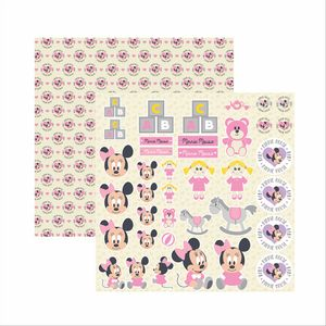 Papel-Scrapbook-Disney-Baby-Minnie-Recortes-SDFD029---Toke-e-Crie