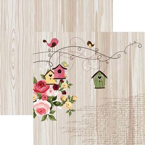 Papel-Scrapbook-Dupla-Face-Encantamento-Passaros-e-Rosas-SDF667---Toke-e-Crie-By-Flavia-Terzi