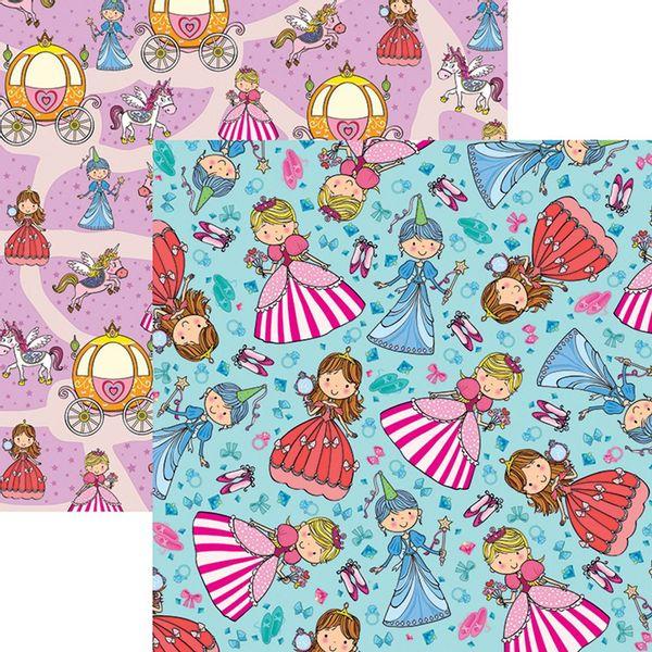 Papel-Scrapbook-Dupla-Face-Princesas-Delicadas-Acessorios-SDF690---Toke-e-Crie
