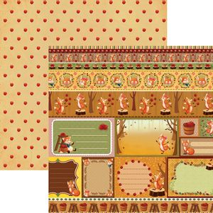 Papel-Scrapbook-Dupla-Face-Raposas-do-Outono-Tags-e-Barrinhas-SDF686---Toke-e-Crie
