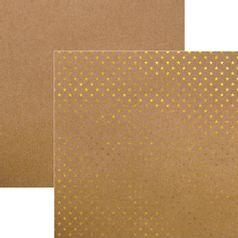Papel-Scrapbook-Estrelas-Dourado-e-Kraft-SDF611---Toke-e-Crie
