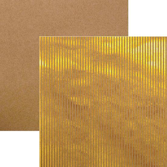 Papel-Scrapbook-Listras-Dourado-e-Kraft-SDF609---Toke-e-Crie
