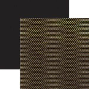 Papel-Scrapbook-Marroquino-Dourado-e-Preto-SDF620---Toke-e-Crie